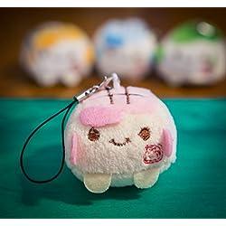- Talismán/llavero para teléfono Tofu, de 3 a 4cm, kawaii, de peluche, Super Cute, suave Squidgy chinos coloridos. Juguete con expresión cara sonriente, regalo único. Accesorios de lujo para animales, rosa pastel