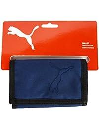 Puma Geldbörse Geldbeutel Portemonnaie mit Klettverschluss blau