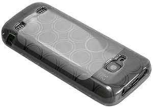 mumbi silicone TPU Coque Nokia C5-00 - Housse skin Etui Case Protecteur C5 Blanc / Noir Transparent