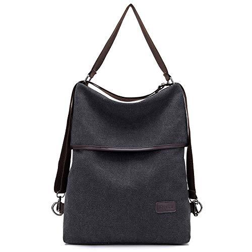 Neue Damen Mehrzweck-Canvas-Taschen können doppelt zurück Handschellen diagonal einfache einfache Umhängetasche schwarz Sein