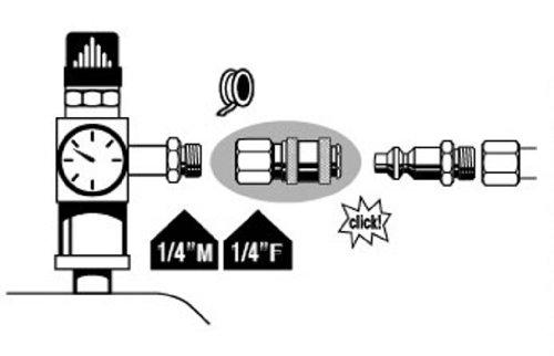Mecafer 156424 Schnellkupplung, Metall, universell, 1/4Zoll, TypF