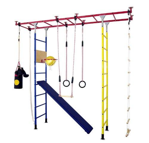 KletterDschungel - das Original - in Kindergartenqualität. Das Indoor Spielhaus als Spielturm und Sprossenwand im Kinderzimmer. Brücke Maxi (für Raumhöhen von 300-350 cm)