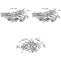 MagiDeal 300x Einzel Klemmhülsen korrosionsbeständig Angelausrüstung Verbindung Stück