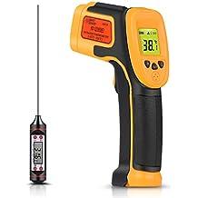 Termómetro infrarrojo, Termómetro láser digital Pistola de temperatura -26 ° F ~ 1022 °