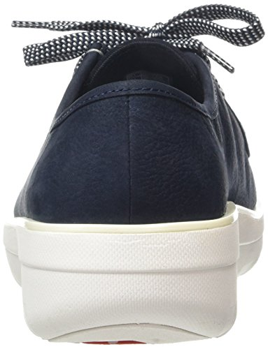 Fitflop Damen Loaff Lace-up Moc Brogue Blau (supernavy 097)