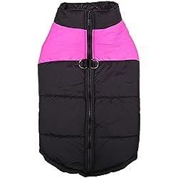 Laitb Ropa para Mascotas Perro Otoño e Invierno Caliente chaleco chaqueta Jacket Abrigo Con Cremallera (4 colores a elegir)