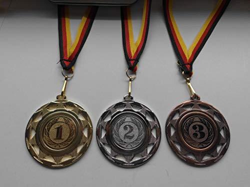 Fanshop Lünen Medaillen Set - 50mm aus Stahl - Zahl - Zahlen - 1.