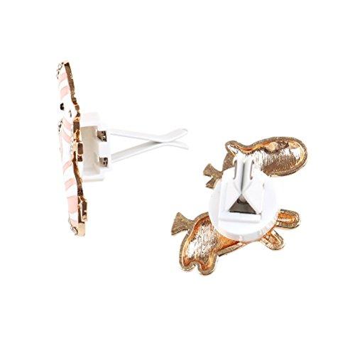 Huertuer-auto-fascino-carino-Zebra-Air-Vent-Perfume-clip-Automotive-deodorante-per-auto-clip-Lega-Pink-58x38cm