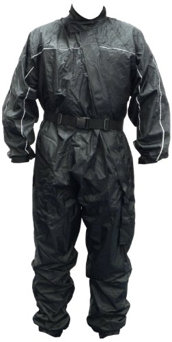 Motorx Motorrad Regenkombi, Schwarz, Größe L