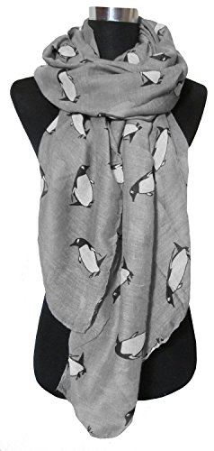 Price comparison product image Lovely little penguin cartoon animals scarves voile printed shawl scarves