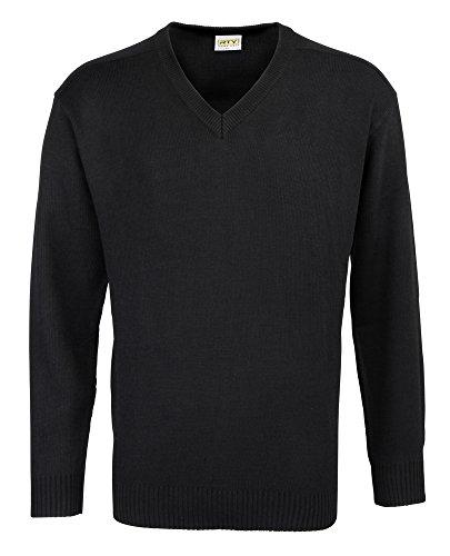 Suéter acrílico cuello V Rty negro negro
