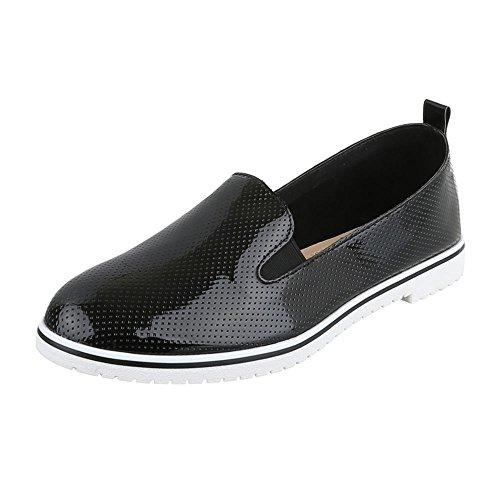 Pantofola Scarpe Basse Basse Tacco Basso Nero Ital-design Scarpe Basse