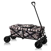 SAMAX Hand Cart Wagon Trolley Garten Cool Bag Coaster Wagen Foldable Camouflage