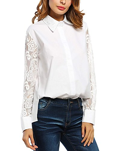 Zeagoo Womens Lace Sexy Shirt To...