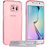 Yousave Accessories Coque Samsung Galaxy S6 Edge Etui Rose Ultra - Mince Silicone Gel Housse