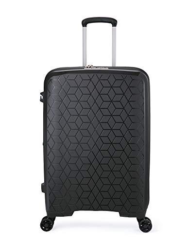 Verage Diamond PP Hartschalen-Koffer 4 Doppel-Räder TSA-Schloss erweiterbar, großer Rollkoffer 78cm (L-29-78x53x32) Schwarz
