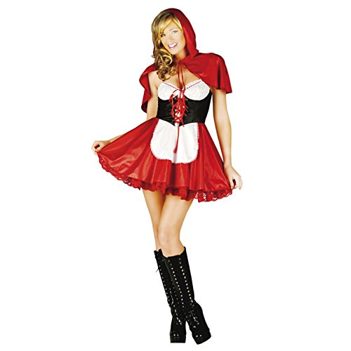 adam & eesa Damen Kleid  - Red Riding Hood GW2318 (Sexy Red Riding Hood Halloween Kostüme)