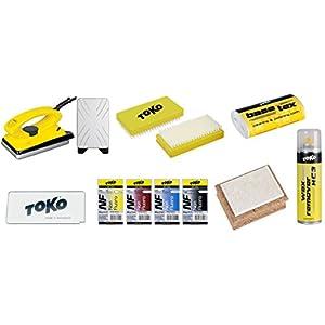 Toko Skiwachs-Set 10-teilig mit Wachsbügeleisen