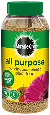 Miracle-Gro All Purpose Continuous Release Plant Food Shaker Jar, 1 kg