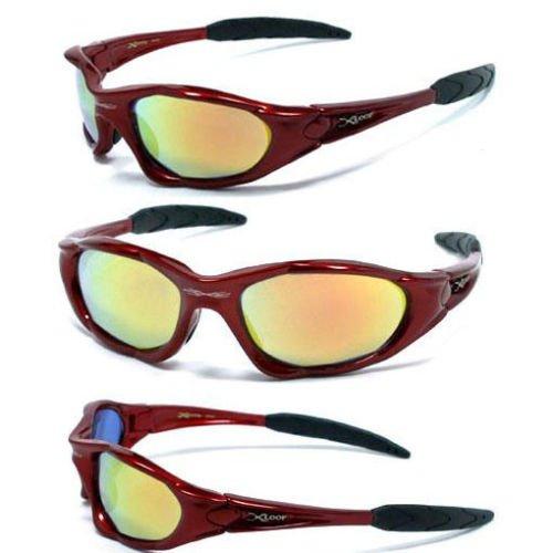 X-Loop Sport-Sonnenbrille 0101 Für Aktiv Sport, Angeln, Radfahren, Golf, Kajak - Wählen Sie Farbe (, Reflective) 3 reflektierende rot