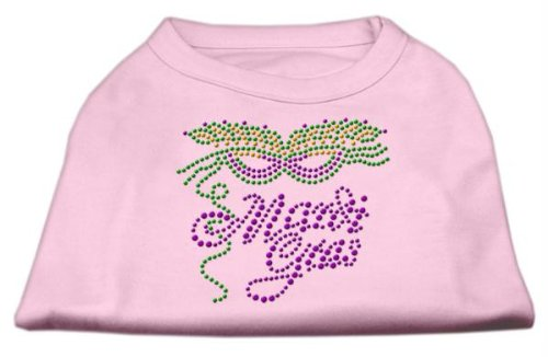Mirage Pet Products Mardi Gras Rhinestud Shirt, 3 X Große, Light Pink -