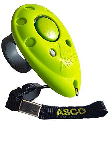 ASCO Premium Clicker, Finger Clicker für Clickertraining, Hunde Katzen Pferde Profi Clicker, Hundetraining Klicker grün AC10F