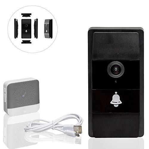 Safe2Home Türklingel Funk mit Kamera und Gegensprechanlage/WLAN/Nachtsicht Modus/Zugriff der Video Klingel per Smartphone App - Türklingel-kamera Wlan-ring