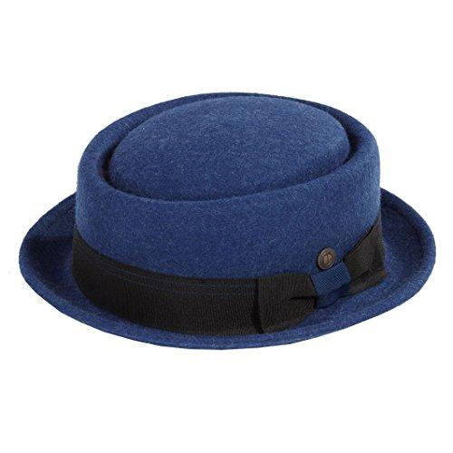 638809d7b7ea93 Dasmarca Quintin Blu Crushable & Lana Packable Feltro Inverno Porkpie Hat -  XL