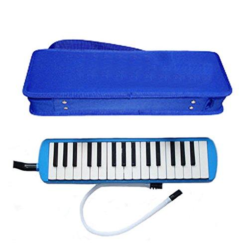 Deluxe Harris Musical blau Melodica mit passendem Blau Deluxe Case mit gratis AAA Musical Reinigungstuch