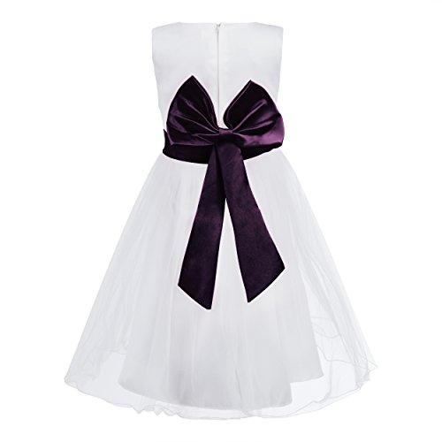 Imagen de katara 1690 1611  flor chica banda flores vestido, 98 104, 2 3 años, púrpura alternativa