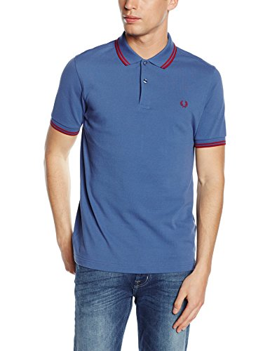FRED PERRY M3600-C34, Polo Uomo, Multicolore (Dusk / Deep Red), L