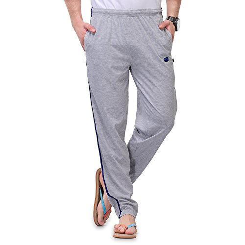 TSX Men's Cotton Trackpant TSX-PYJAMA-STR-LGHTGREY-BLUE-M  available at amazon for Rs.249