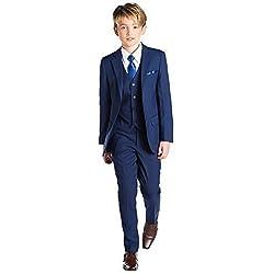 Paisley of London, Niños Azul Traje, Graduación Trajes, Página Juegos Del Muchacho, 12-18 meses - 13 años - sintético, Azul, 100% poliéster, De Niño, 10 Años