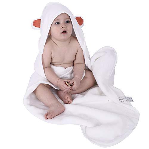 Baby Badetuch 70x70 cm Oeko-Tex®100 Kapuzenhandtuch Weiß -