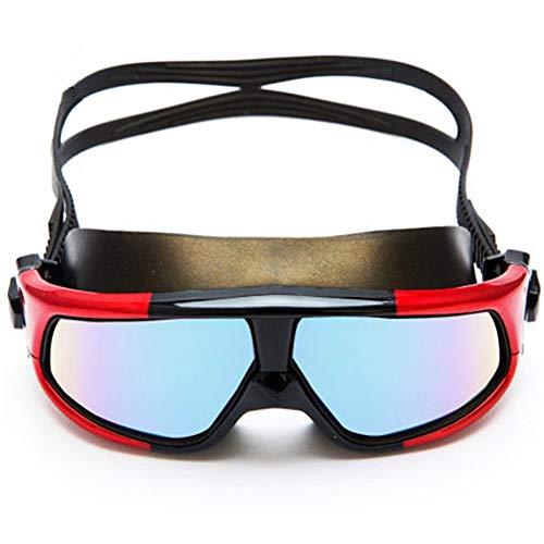 WENYAO Schwimmbrille Männer und Frauen Schwimmbrille flach HD Anti-Nebel-Lichtkasten wasserdicht Erwachsenen Sport Taucherausrüstung