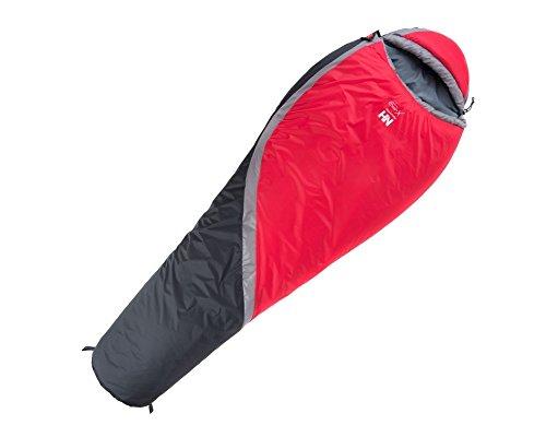 Tofern inverno all' aperto sacco a pelo per campeggio trekking (200x 85x 50cm) a -15oc, Uomo Bambino donna, Red