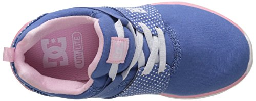 DC Shoes Heathrow, Baskets Basses Fille Multicolore (Blue/White Print)