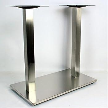 B-Ware Edelstahl Tischgestell 41 cm Couchtisch Wohnzimmertisch Tischfuß Tisch