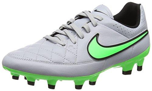 Nike Tiempo Fg, Chaussures de Running Entrainement Homme Blanc (White/Green)