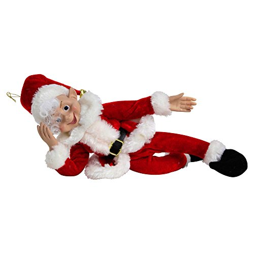 (Weihnachts Spaß Frecher Elf, biegbarer Regal Elf für Unfug, Witz & Scherzen - 41cm)