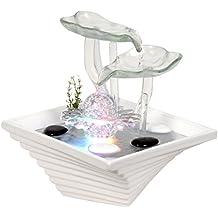 Zen'Light SCFV2FW Flower Fontaine d'Intérieur Blanc 24 x 24 x 27 cm
