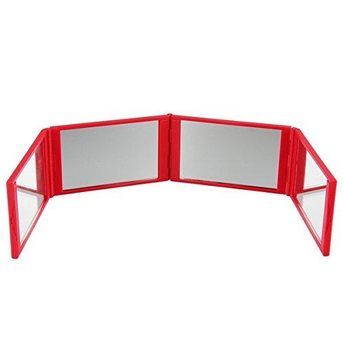 Beauty7-Espejo-Plegable-de-cuatro-lado-juegos-de-Extensiones-de-pestaas-color-rojo