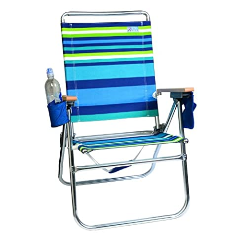 Rio 4 Position Easy-In/ Easy-Out Beach/Lawn Chair - Sit Higher Off the Sand with this 43.18 cm high Chair #642 - 1302