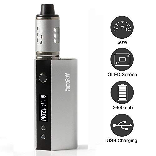 Kit de inicio de cigarrillos electrónicos, kit de caja de loros Caja de mod de 60 vatios Recargable Mod. OLED...
