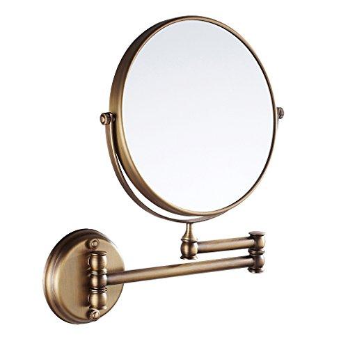 Schwenk-chrom-basis (MagiDeal Kosmetik-Wandspiegel Teleskop- Schminkspiegel Vergrößerungsspiegel Rasierspiegel für Badezimmer - Bad-Spiegel - Antiquität, 20cm)