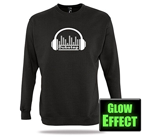 Dubstep Pullover Glow Equalizer Headphone Dubstep Shirt Kopfhörer DJ Music