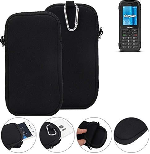 K-S-Trade Neopren Hülle für Energizer H240S Schutzhülle Neoprenhülle Sleeve Handyhülle Schutz Hülle Handy Gürtel Tasche Case Handytasche schwarz