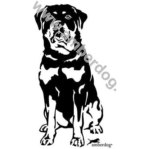 Rottweiler adesivo da parete Art. Nr. T0112, Plastica, 120x74cm