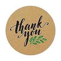 ملصقات ملصقات ملصقات شكر لك 1000 كرافت | مقاس 1 بوصة | يوصى بها بشدة لأعياد الميلاد وحفلات الزفاف والهدايا.