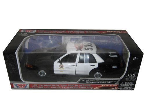 2001 Ford Crown Victoria Los Angeles Police Department LAPD Car 1/18 by Motormax 73539 by Motormax